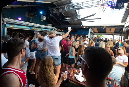 """The Starboard's weekly """"Suicide Sunday"""" celebration in Dewey Beach includes a massive build-your-own Bloody Mary bar."""