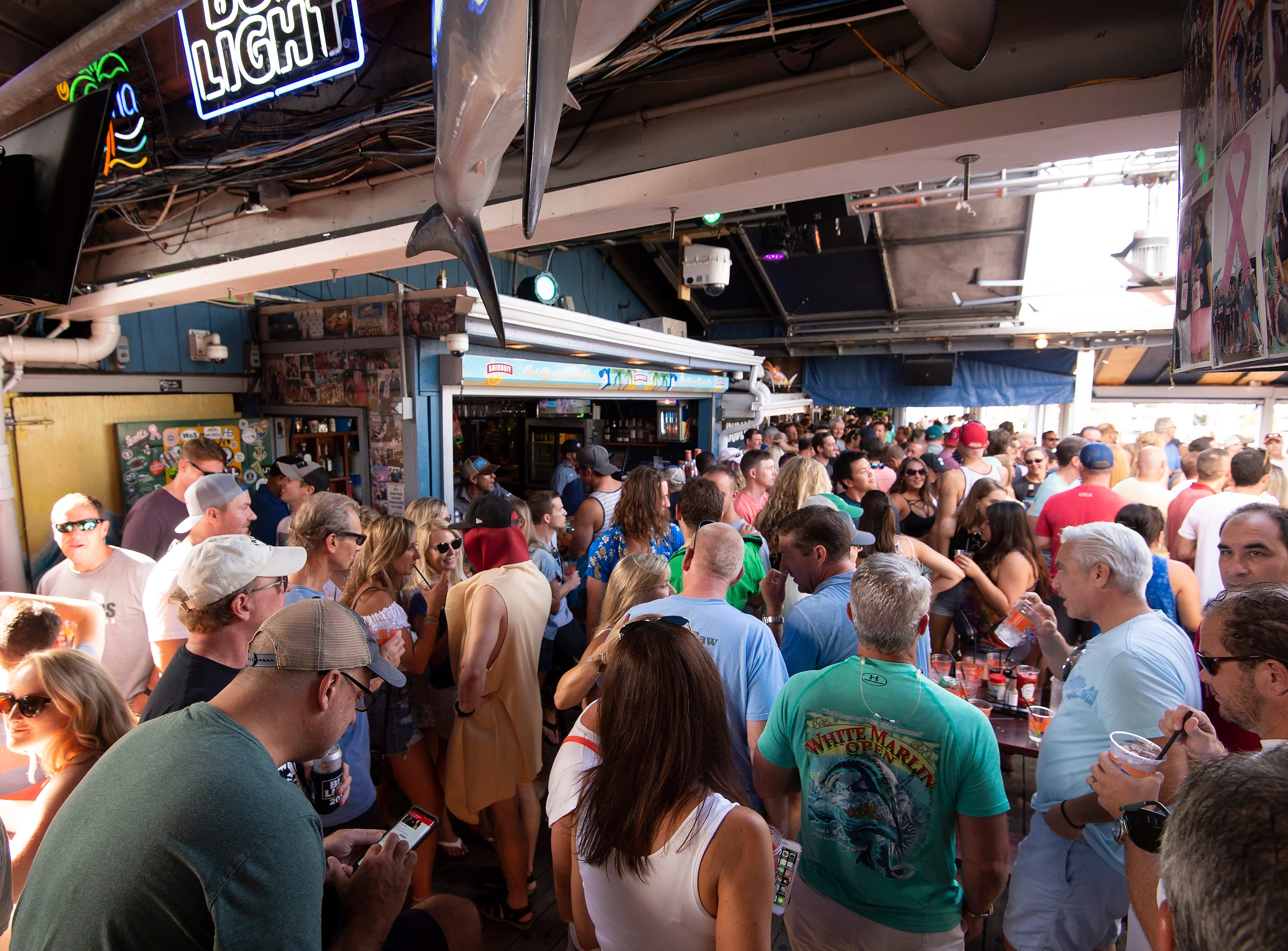 Labor day crowd at the Starboard in Dewey Beach.