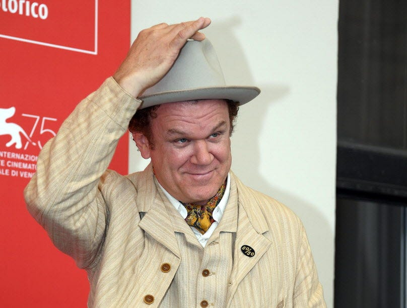 epa06992564 US actor/cast member John C. Reilly poses during a photocall for 'The Sisters Brothers' during the 75th annual Venice International Film Festival, in Venice, Italy, 02 September 2018. The movie is presented in the official competition 'Venezia 75' at the festival running from 29 August to 08 September 2018.  EPA-EFE/CLAUDIO ONORATI