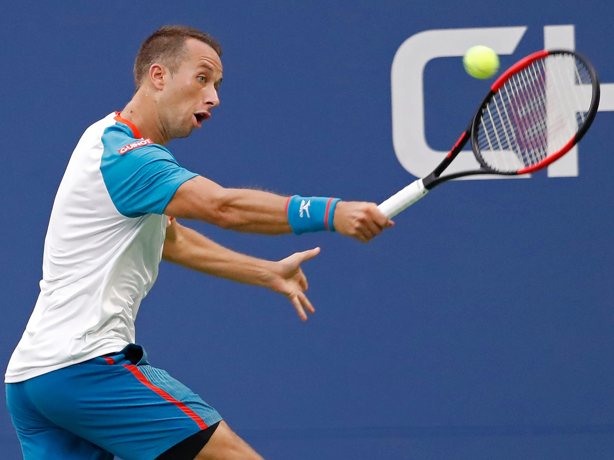 Philipp Kohlschreiber of Germany upset Alexander Zverev of Germany.