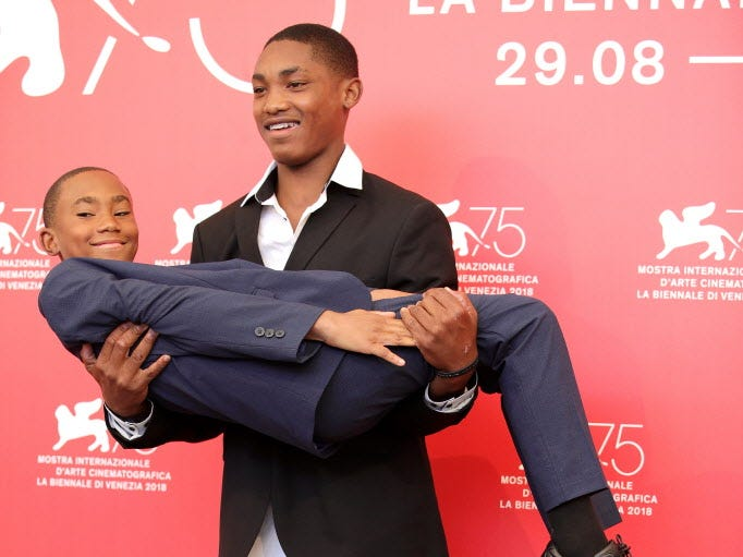 VENICE, ITALY - SEPTEMBER 02:   Actors Kevin Goodman and Titus Turner attend 'What You Gonna Do When The World's On Fire?' photocall during the 75th Venice Film Festival at Sala Casino on September 2, 2018 in Venice, Italy.  (Photo by Andreas Rentz/Getty Images) ORG XMIT: 775200662 ORIG FILE ID: 1026141160