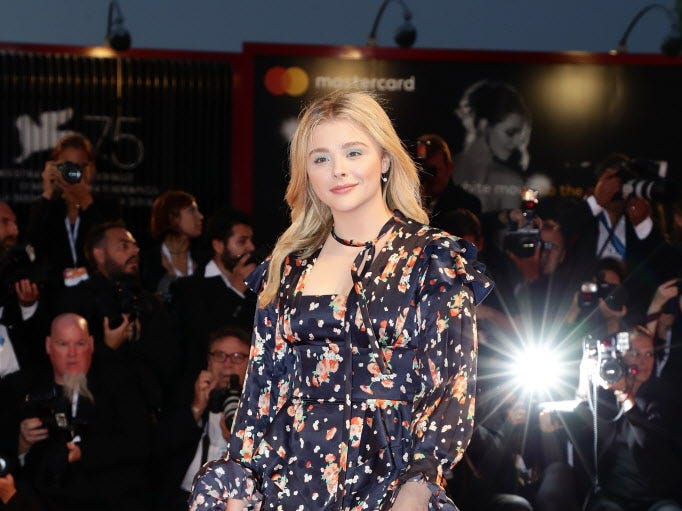 VENICE, ITALY - SEPTEMBER 01:  Chloe Grace Moretz walks the red carpet ahead of the 'Suspiria' screening during the 75th Venice Film Festival at Sala Grande on September 1, 2018 in Venice, Italy.  (Photo by Vittorio Zunino Celotto/Getty Images) ORG XMIT: 775200728 ORIG FILE ID: 1025891708