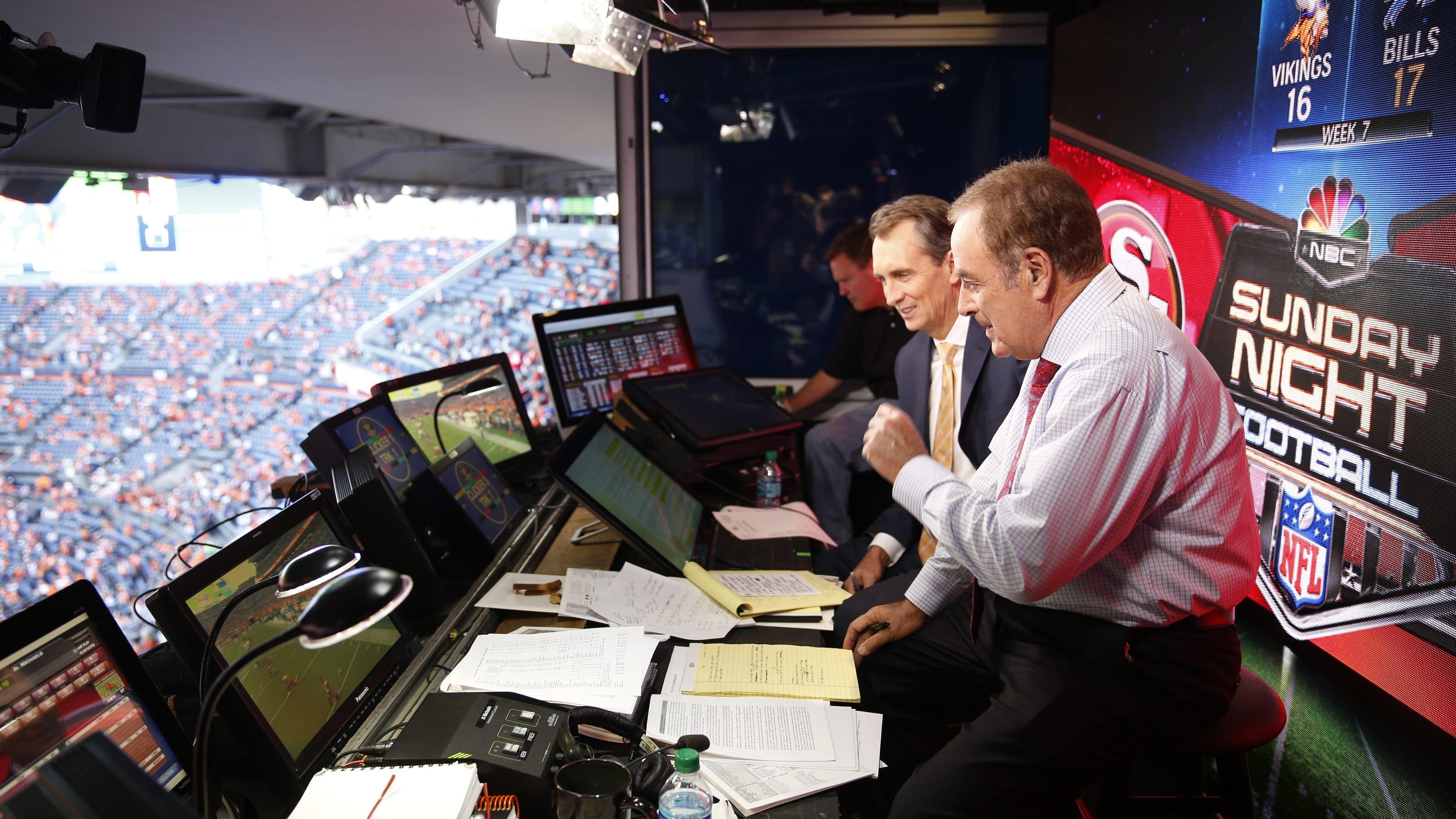 Sunday Night Football Al Michaels Cris Collinsworth On The Big Game