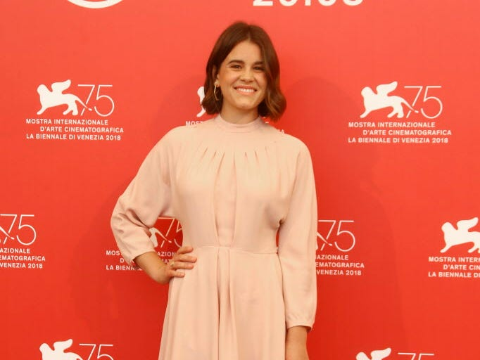 Actress Sosie Bacon poses for photographers at the photo call for the film 'Charlie Says' at the 75th edition of the Venice Film Festival in Venice, Italy, Sunday, Sept. 2, 2018. (Photo by Joel C Ryan/Invision/AP) ORG XMIT: LENT138