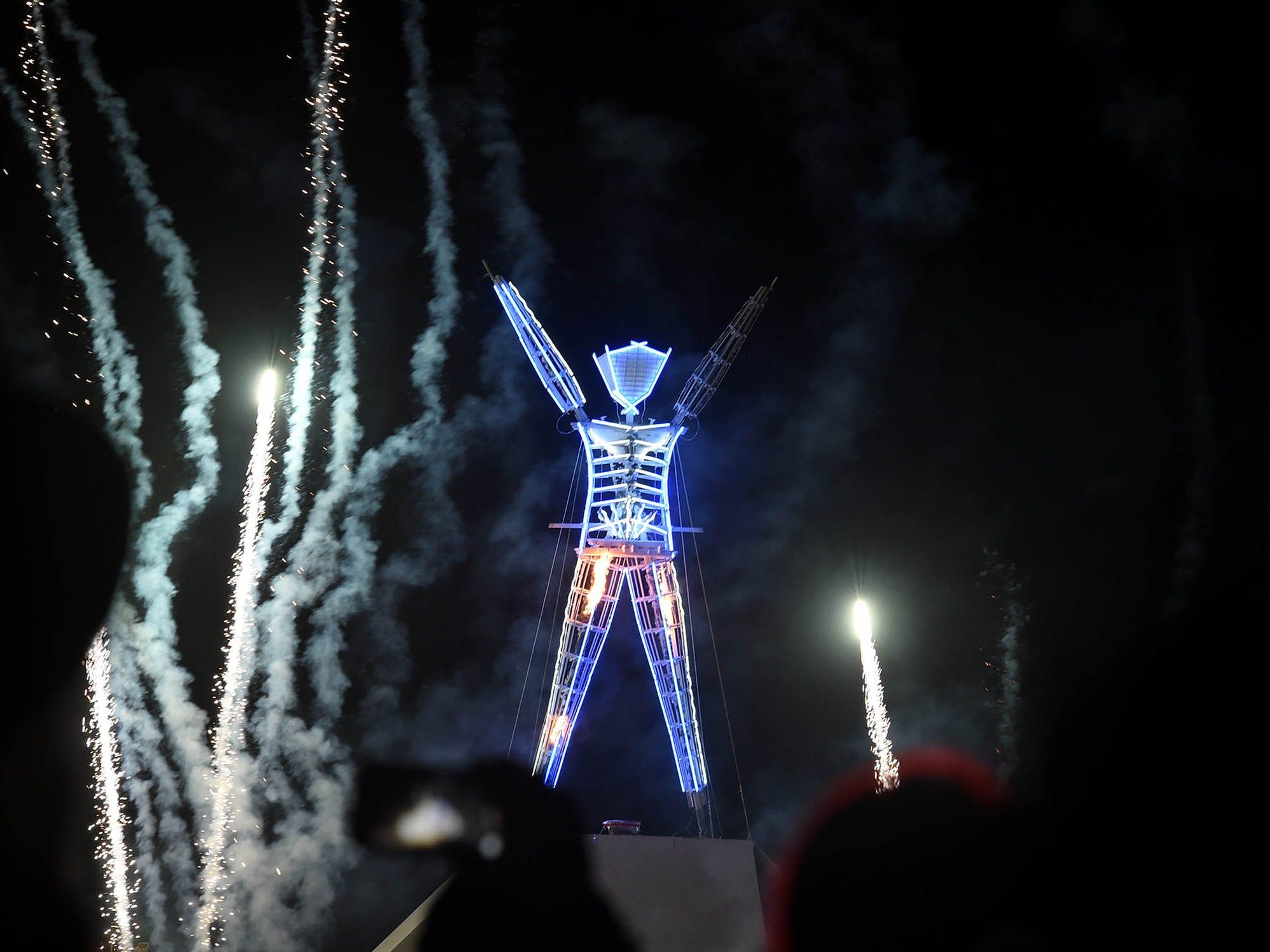 The Man effigy at Burning Man 2018.