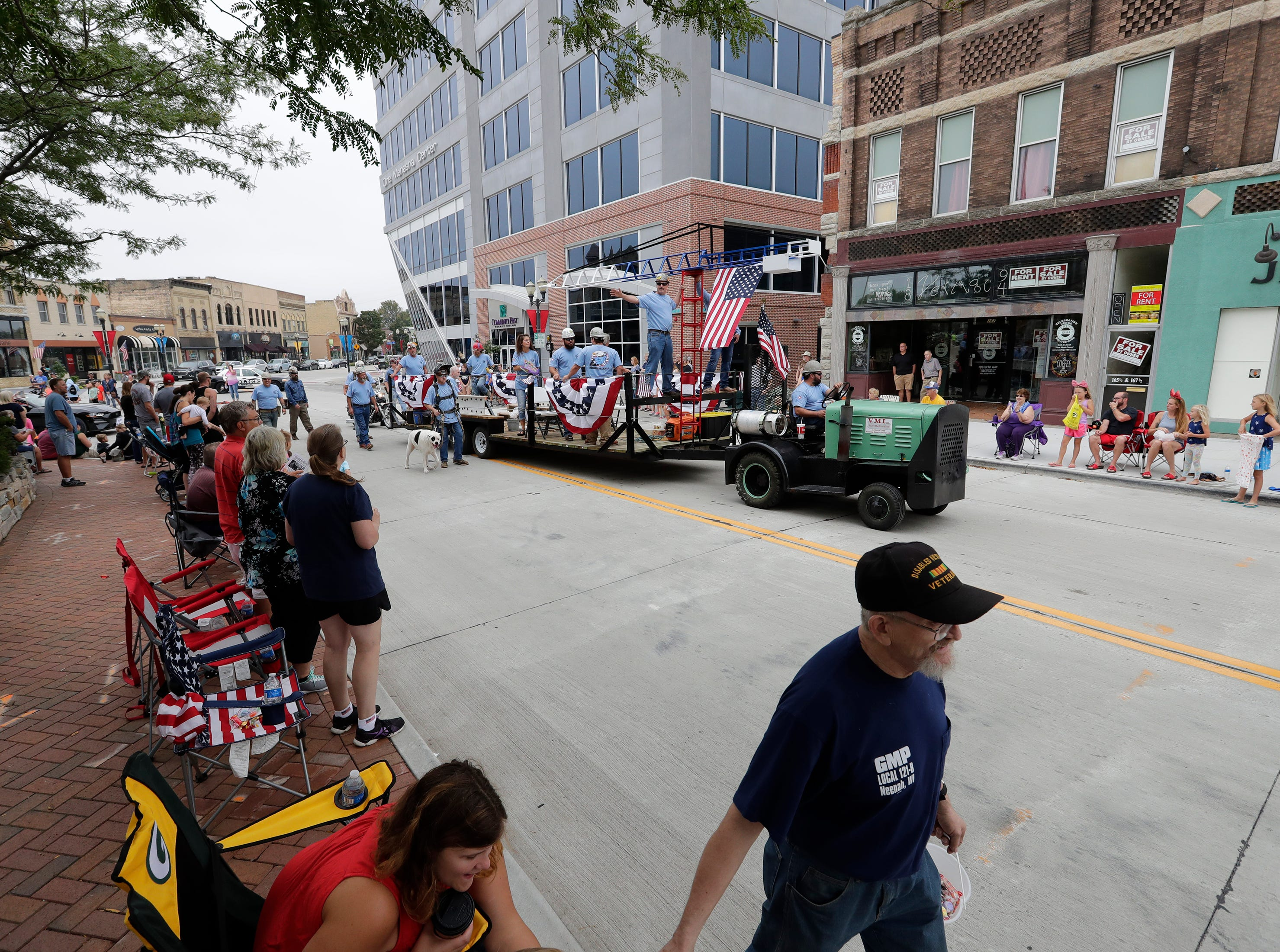 The Neenah-Menasha Labor Day Parade Monday, Sept. 3, 2018, in downtown Menasha, Wis. 