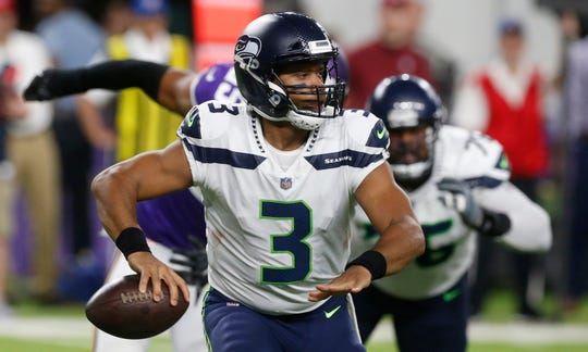 Russell Wilson's Seattle Seahawks seem likely to take a step back in 2018.