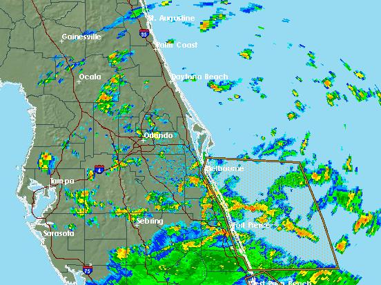 Rain band associated with Tropical Storm Gordon will lash Brevard County Monday.