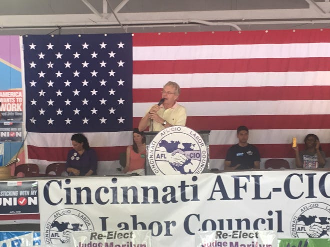 Jerry Springer speaks at the AFL-CIO Labor Day Picnic