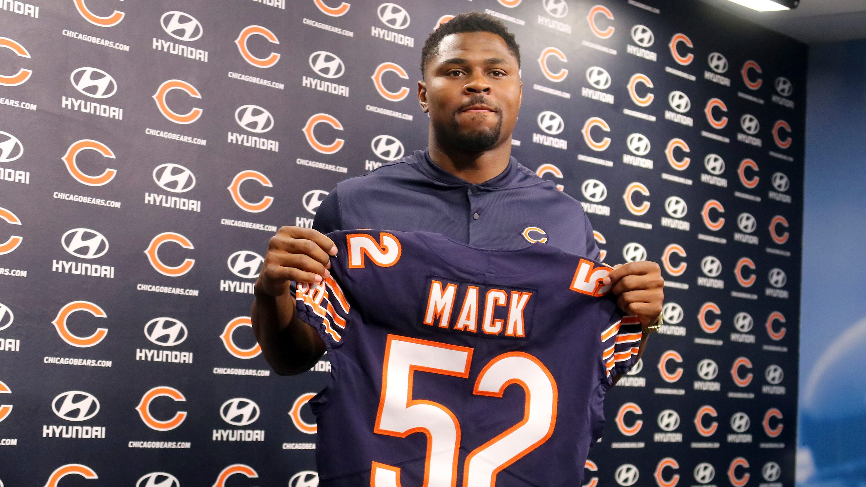 brand new f7d54 a3216 Khalil Mack 'itching' to get going with Chicago Bears after ...