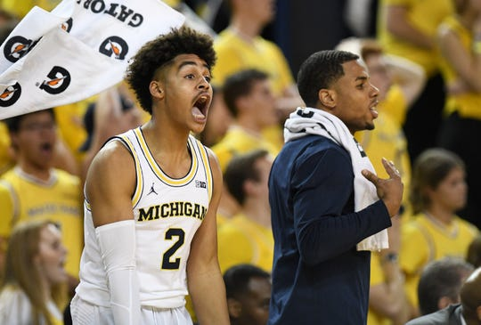 Michigan guard Jordan Poole averaged six points per game in a reserve role last season.