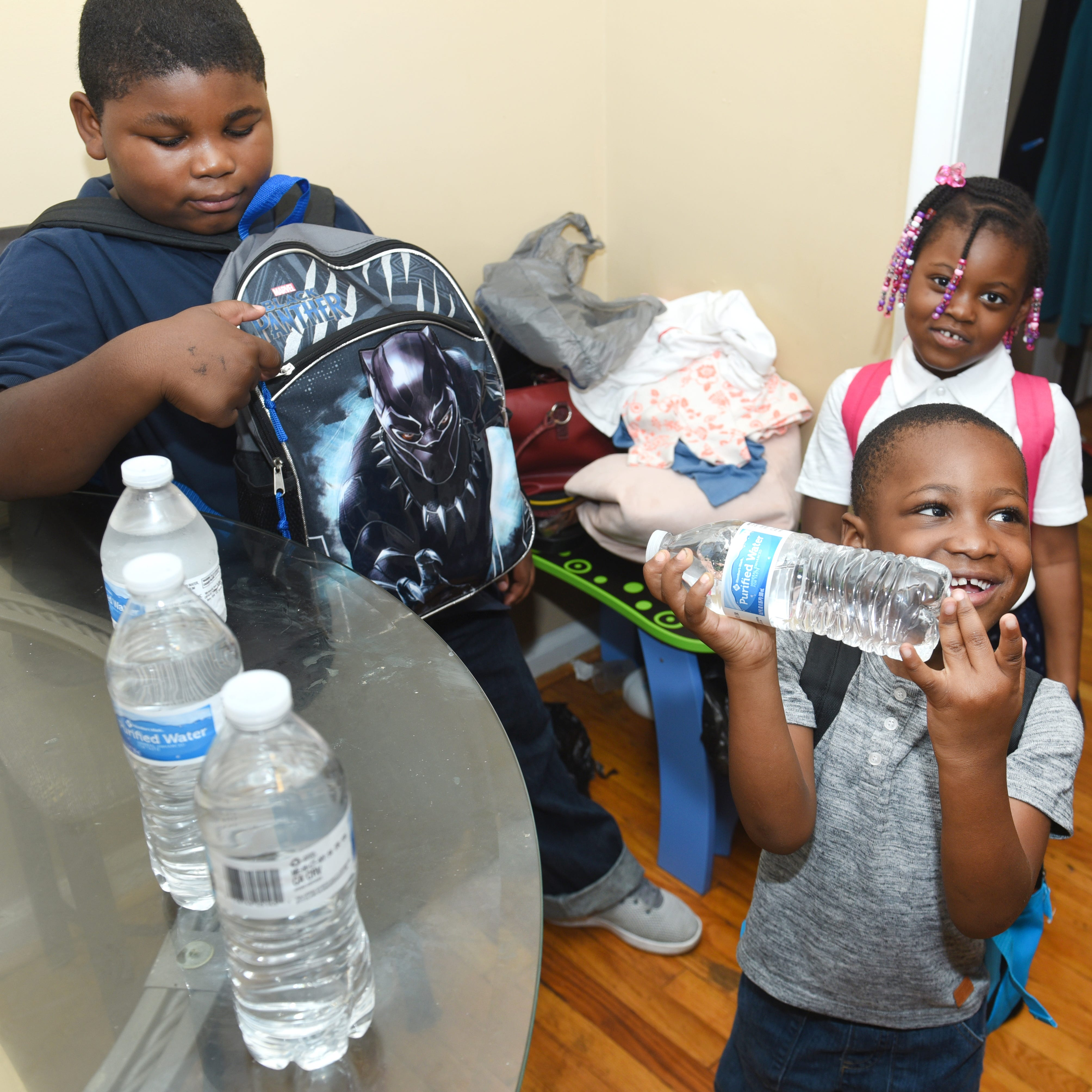 Bottled water among school supplies for Detroit, Flint kids