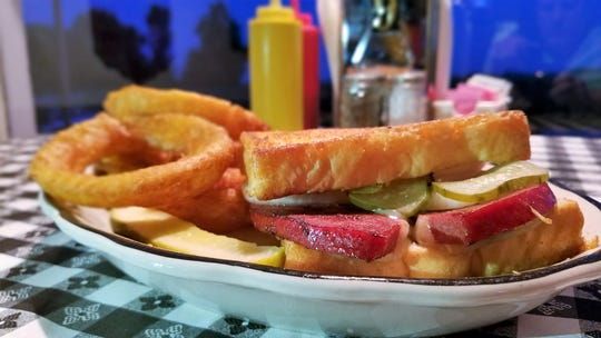 "Head north for a ""Nisbet Steak Sandwich,"" a thick slice of sizzled bologna with pepper jack cheese, pickle and onion on Texas toast."