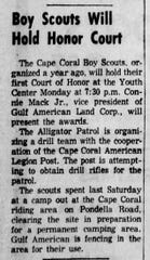 An announcement for the Cape Coral Boy Scouts appeared in The News-Press on Nov. 23, 1962.