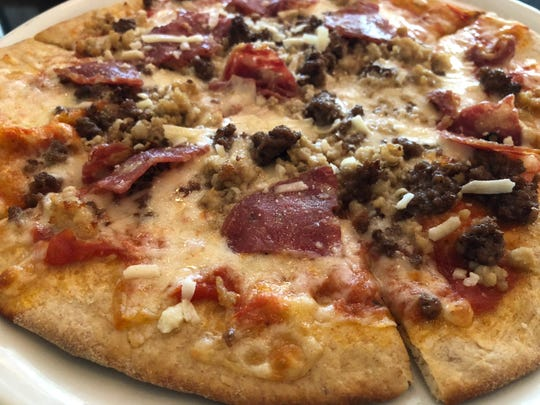 """The """"Carnivore Pizza"""" from The Local, Naples."""