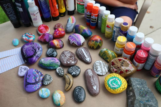 These are some of the rocks WI Rocks has painted.