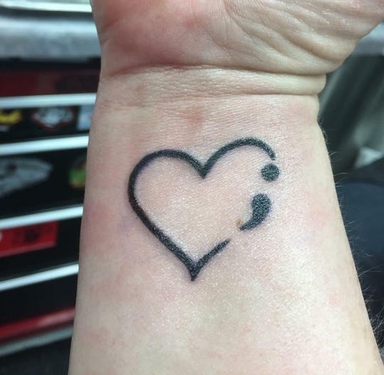 The punctuation mark, the semicolon, has become a popular symbol representing the struggle for those who have contemplated suicide or for those survivors who have lost loved ones to suicide.
