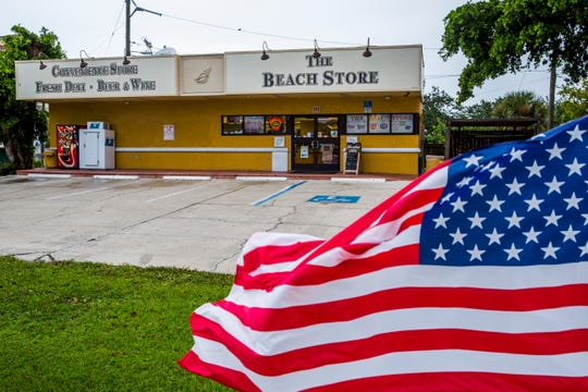 The parking lot was empty at The Beach Store near Vanderbilt Beach on Labor Day, Monday, Sept. 3, 2018. Cloudy skies and rain were expected as Tropical Storm Gordon passes over Southwest Florida.