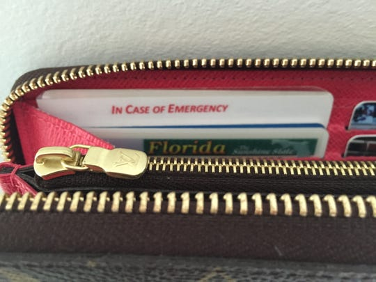 Be sure to laminate your I.C.E. Card and make it slightly larger than the other cards in your wallet, thus making it highly visible in case of an emergency.