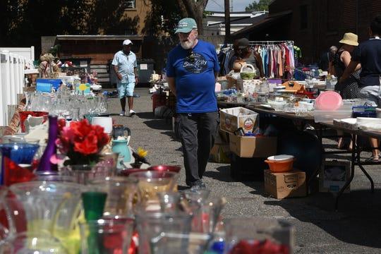 Spot treasures among the flea market venue on Sunday at the Meyersville Grange Antiques & Collectibles Market.