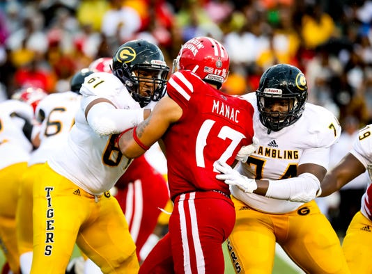 In The Football Game Between Ull And Grambling State University At Cajun Field In Lafayette Louisiana On September 01 2018