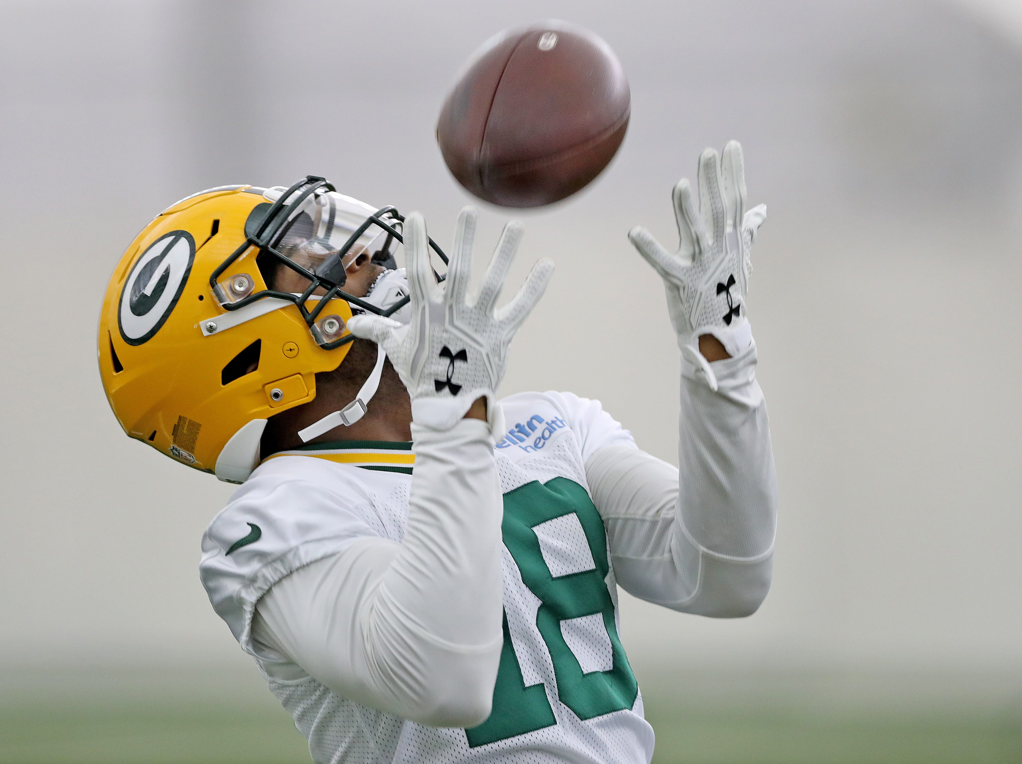 Green Bay Packers wide receiver Randall Cobb (18) during Packers practice in the Don Hutson Center Monday, September 3, 2018 in Ashwaubenon, Wis