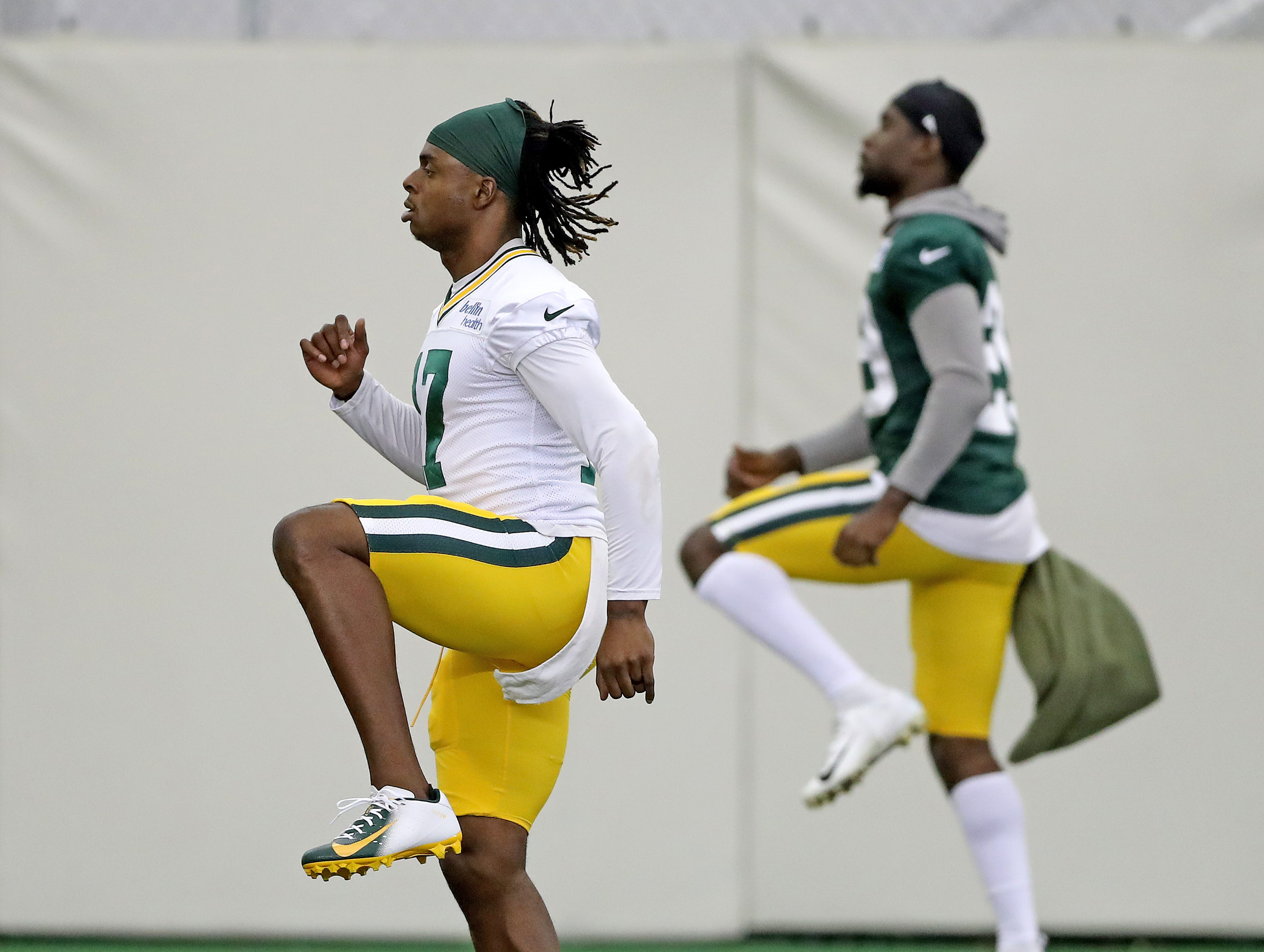 Green Bay Packers wide receiver Davante Adams (17) during Packers practice in the Don Hutson Center Monday, September 3, 2018 in Ashwaubenon, Wis