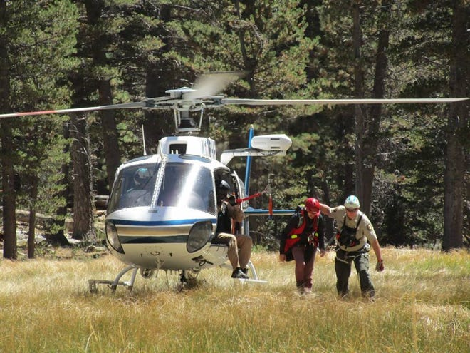 Hiker rescued September 2, 2018 from Skyline Trail near Palm Springs.