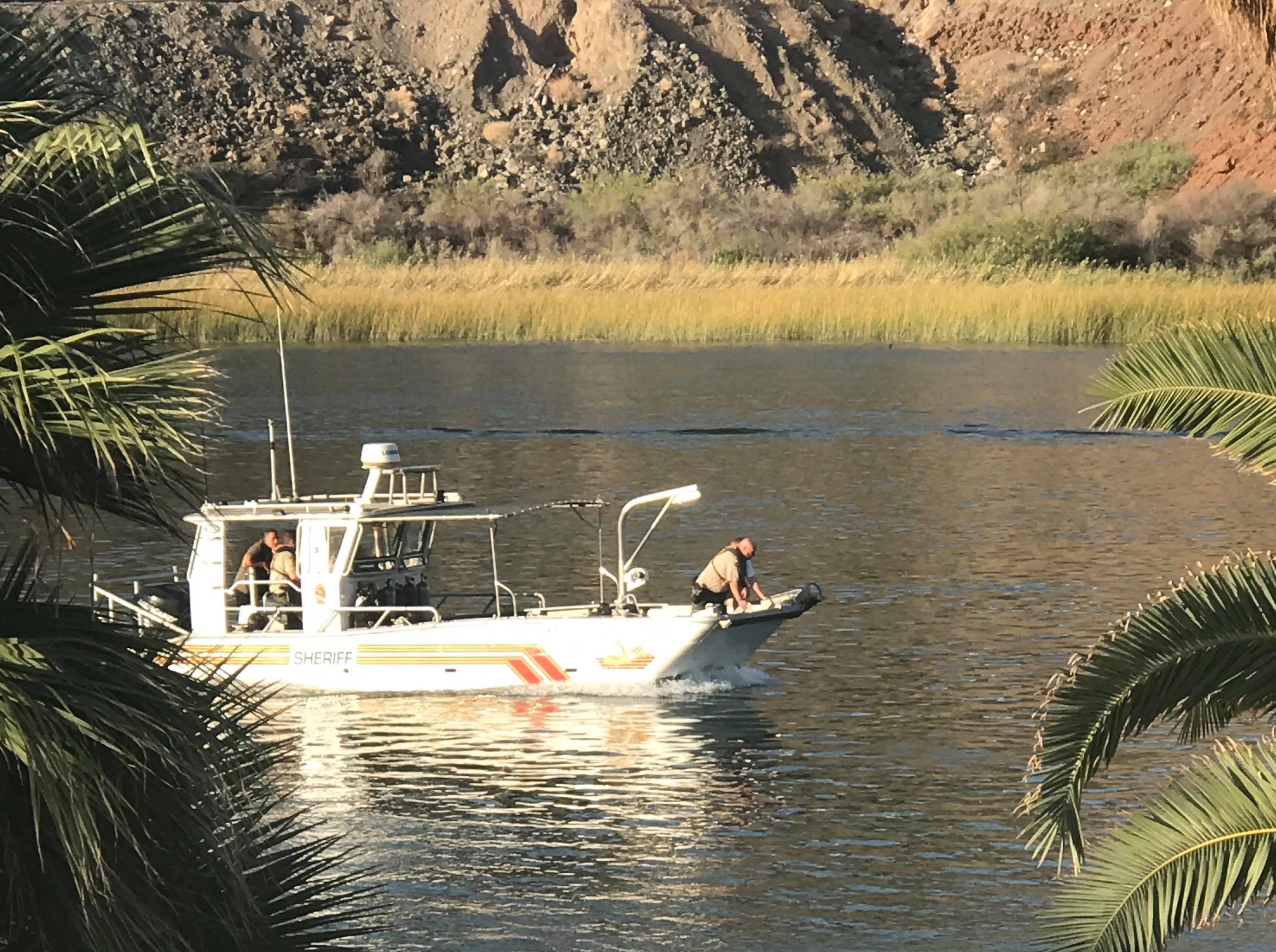Mohave County Sheriff's Office Division of Boating Safety continues the search for missing boaters after a boat collision left nine injured, three missing and one dead on Saturday, Sept. 1, 2018.