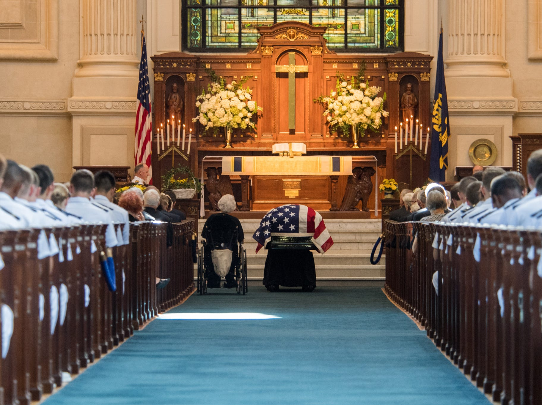 Funeral services for Sen. John McCain on Sept. 2, 2018.