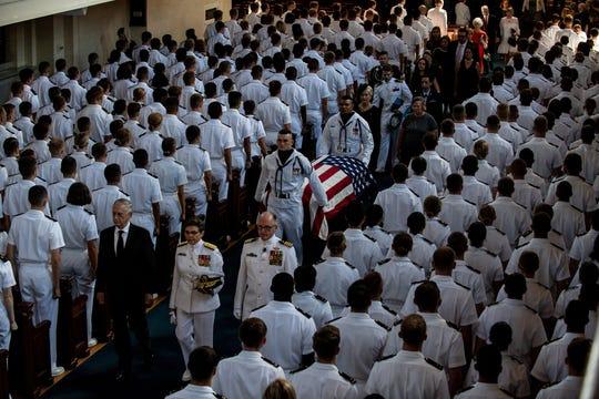 Funeral services for Sen. John McCain on Sept. 2, 2018.