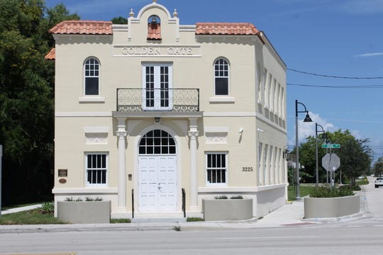 The historic Golden Gate Building fully restored and operating as House of Hope's Golden Gate Center for Enrichment is located at the corner of Southeast Dixie Highway and Delmar Street in Stuart.