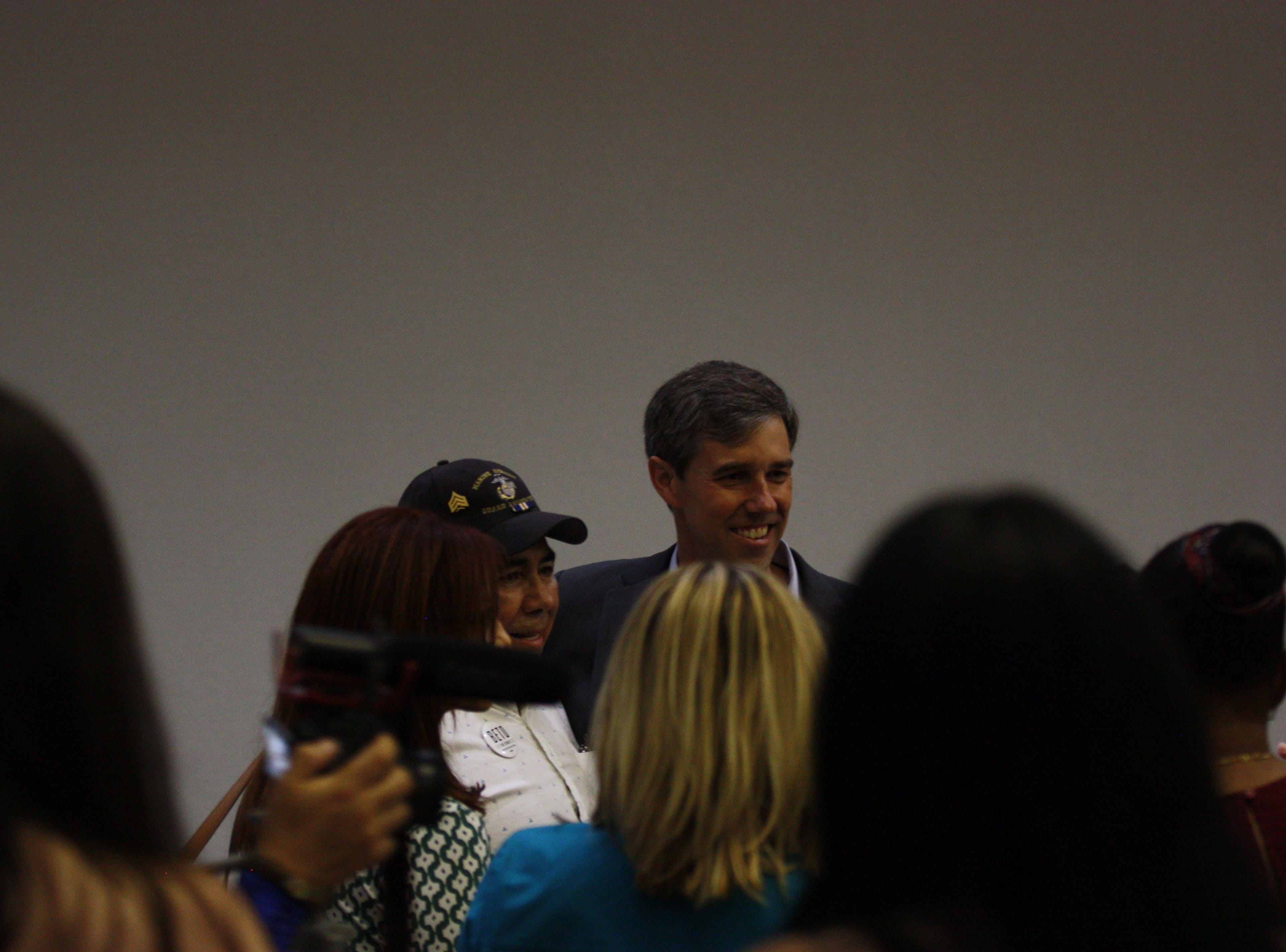 A number of people tried to get a photo with U.S. Rep. Beto O'Rourke before his address at the 44th annual Labor Day Breakfast on Monday in Central El Paso.