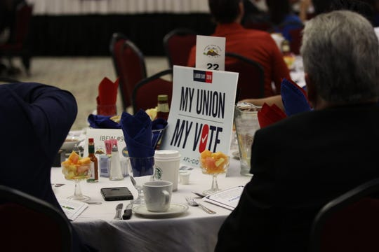 A number of El Paso chapters and unions were present at the 44th annual Labor Day Breakfast on Monday in Central El Paso.