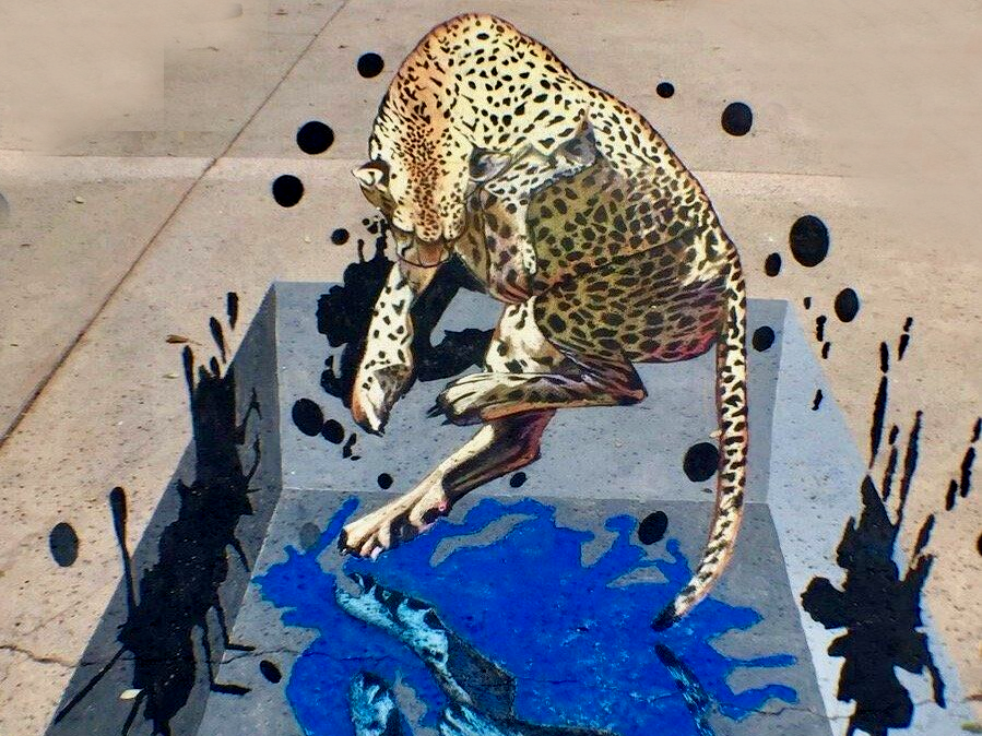 Tracy Stum, known for her three-dimensional effect, is expected to return to this year's Ventura Art & Street Painting Festival at Ventura Harbor Village.