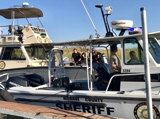 Mohave County sheriff's deputies along with surrounding law enforcement agencies are searching for four missing people who went overboard after a boating collision on Lake Havasu.