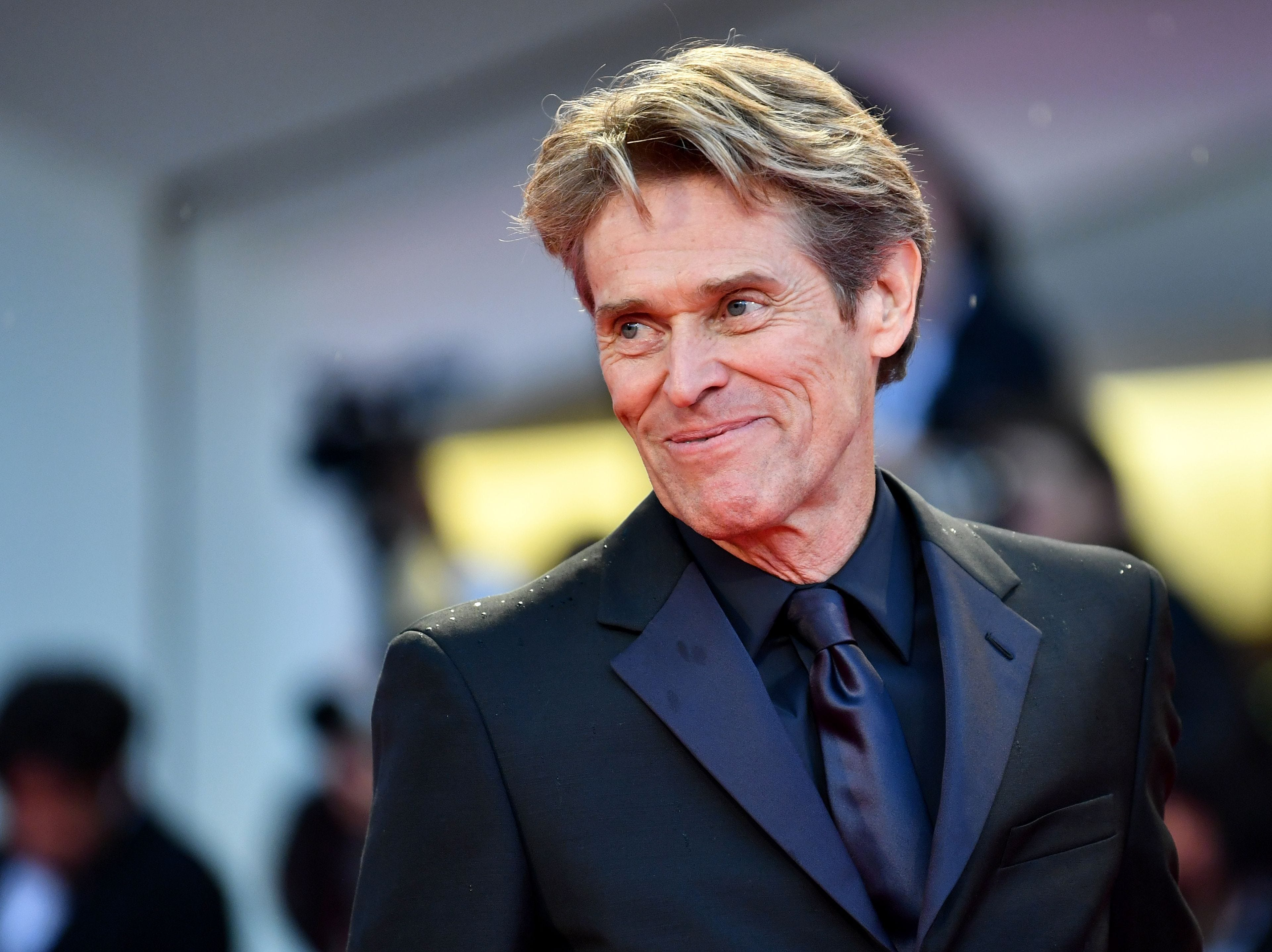 """Actor Willem Dafoe arrives for the premiere of the film """"At Eternity's Gate"""" presented in competition on September 3, 2018 during the 75th Venice Film Festival at Venice Lido. (Photo by Alberto PIZZOLI / AFP)ALBERTO PIZZOLI/AFP/Getty Images ORIG FILE ID: AFP_18T8WX"""