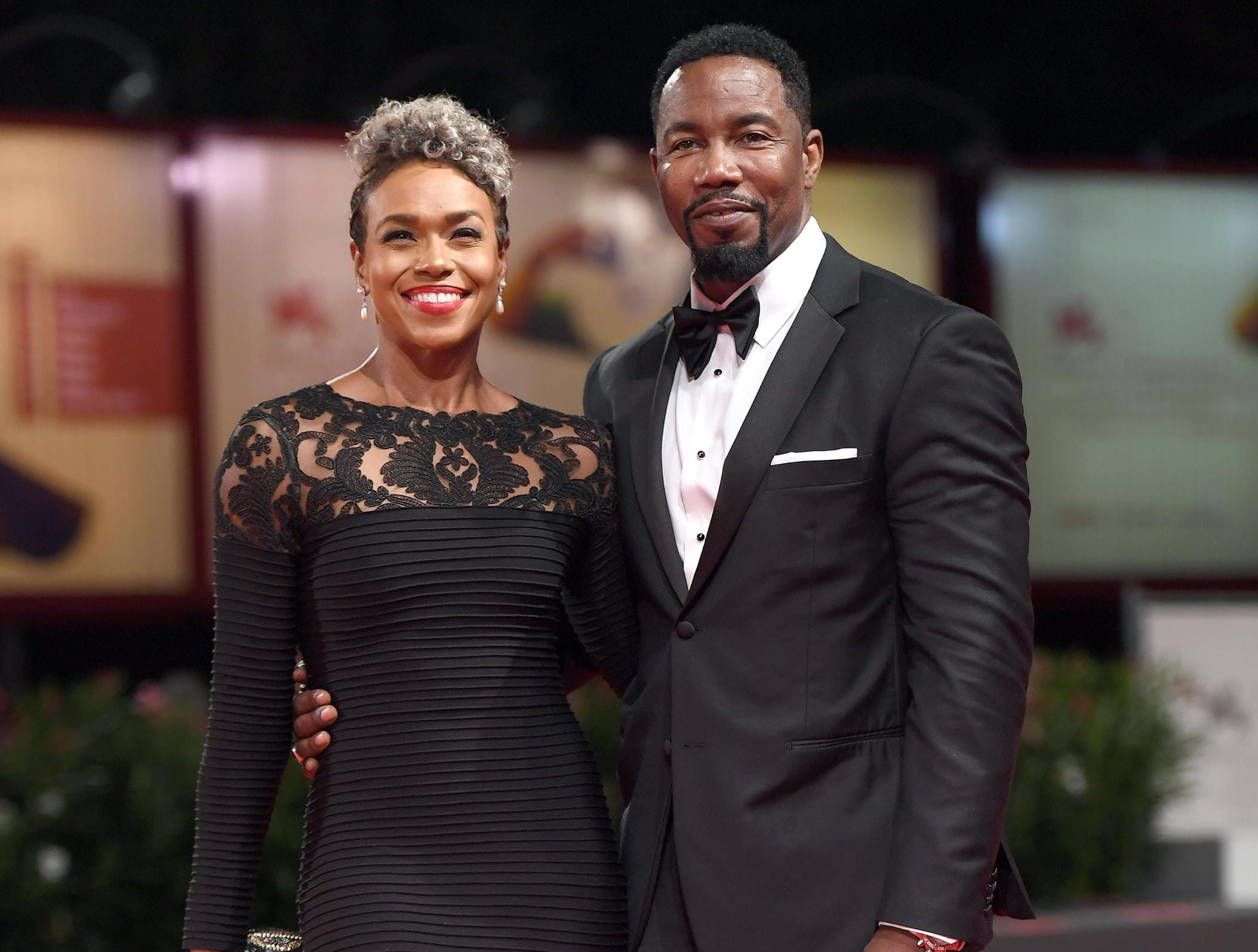 epa06995310 US actor Michael Jai White and Gillian Iliana Waters, arrive for the premiere of 'Dragged Across Concrete' during the 75th annual Venice International Film Festival, in Venice, Italy, 03 September 2018. The movie is presented in out competition at the festival running from 29 August to 08 September 2018.  EPA-EFE/CLAUDIO ONORATI