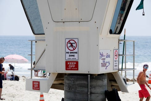"A ""No drone zone"" in Laguna Beach, California"