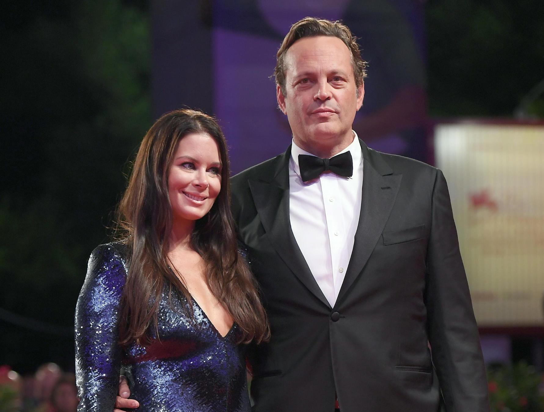 epa06995314 US actor Vince Vaughn and Kyla Weber arrive for the premiere of 'Dragged Across Concrete' during the 75th annual Venice International Film Festival, in Venice, Italy, 03 September 2018. The movie is presented in out competition at the festival running from 29 August to 08 September 2018.  EPA-EFE/CLAUDIO ONORATI