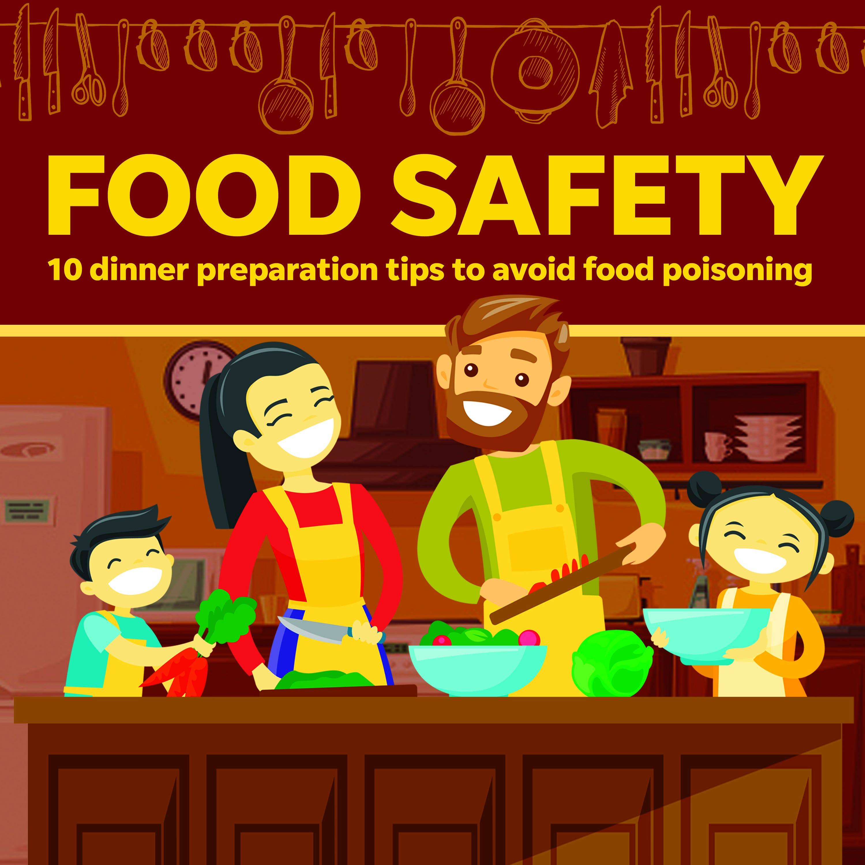 Food safety: 10 dinner preparation tips to avoid food poisoning