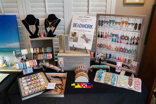 """""""Beaded by the Beach,"""" a four-year-old Manasquan-based beading business run by professional beader Susan Pelligra. Photos taken in her home studio in Manasquan on September 4, 2018."""