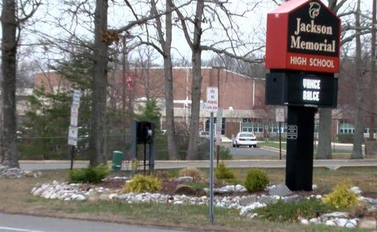 Exterior of Jackson Memorial High School on Thursday, April 19, 2018.