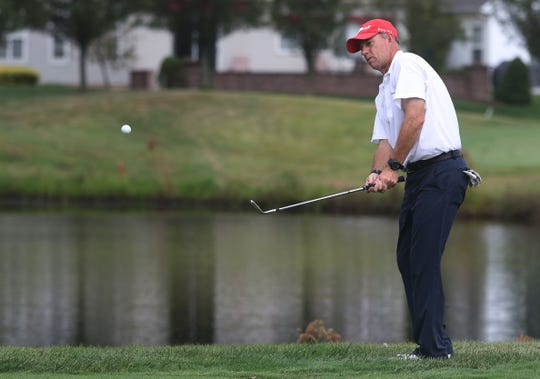 Manchester golf pro Ed Walls played 108 holes Sunday for a good cause.