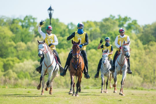 Riders compete in endurance at a World Equestrian Games Test Event this spring at the Tryon International Equestrian Center. Endurance is a one-day event consisting of a 100-mile race.