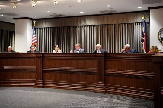 Buncombe County Board of Commissioners during a Sept. 4, 2018, meeting.