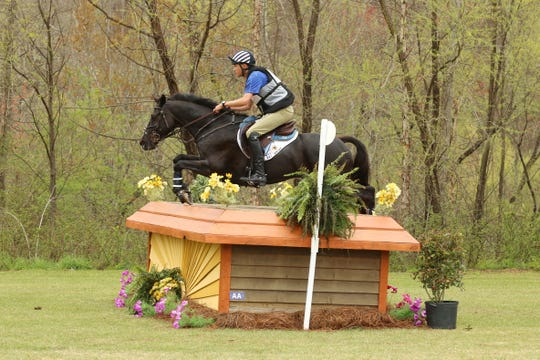 U.S. rider Boyd Martin competes in eventing with Tsetserleg at a WEG test event in April. Eventing is the triathlon of equestrian, consisting of dressage, cross-country and jumping.