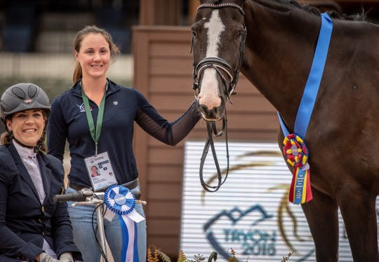 Roxanne Trunnell of Rowlett, Texas, competed in para-dressage at the 2016 Rio Paralympics. She will compete at the FEI World Equestrian Games in Tryon.