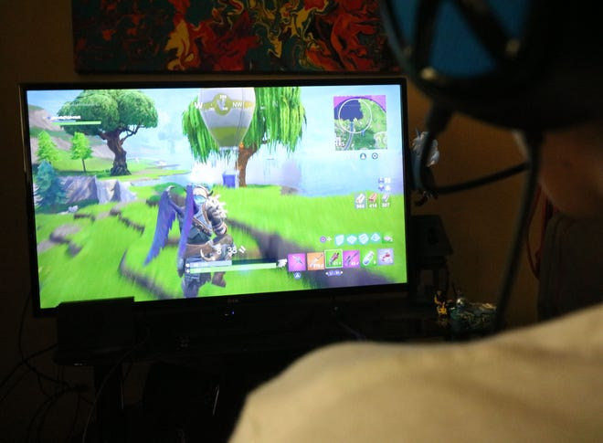 This Vestal Middle School sixth-grader on Sept. 4 crammed a marathon of Fortnite games in the day before school starts.