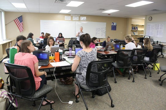 Teachers were acclimated to the Vestal Central School District on Aug. 29 during the district's New Teacher Orientation at the Vestal Administration Offices.